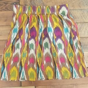 Cabi Multicolored Bella Ikat Skirt ♡ Size Small